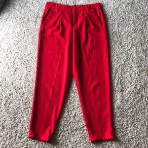 Nine West Red Ankle Pants